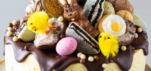Festive Easter cheesecake