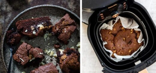 Brownies from the Airfryer with white chocolate