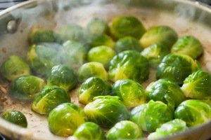 Steam Brussels sprouts