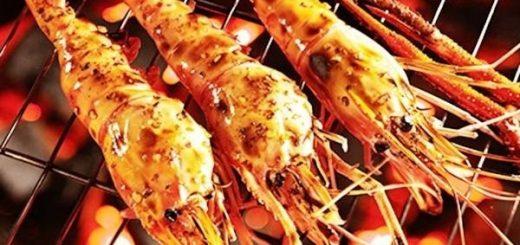 Tropical grilled shrimp