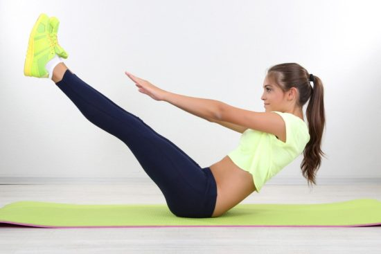exercises for the abdomen and legs