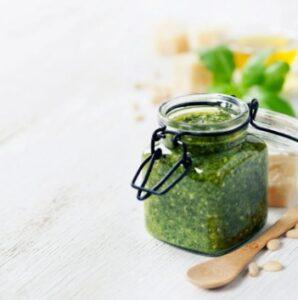 Making Green Pesto